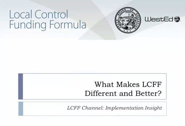 What make LCFF different and better